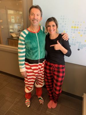 Scott and Tiffany as Elves